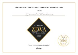 Zankyou vincitore categoria video2020